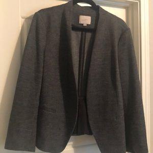 LOFT Grey Herringbone Blazer Size XL